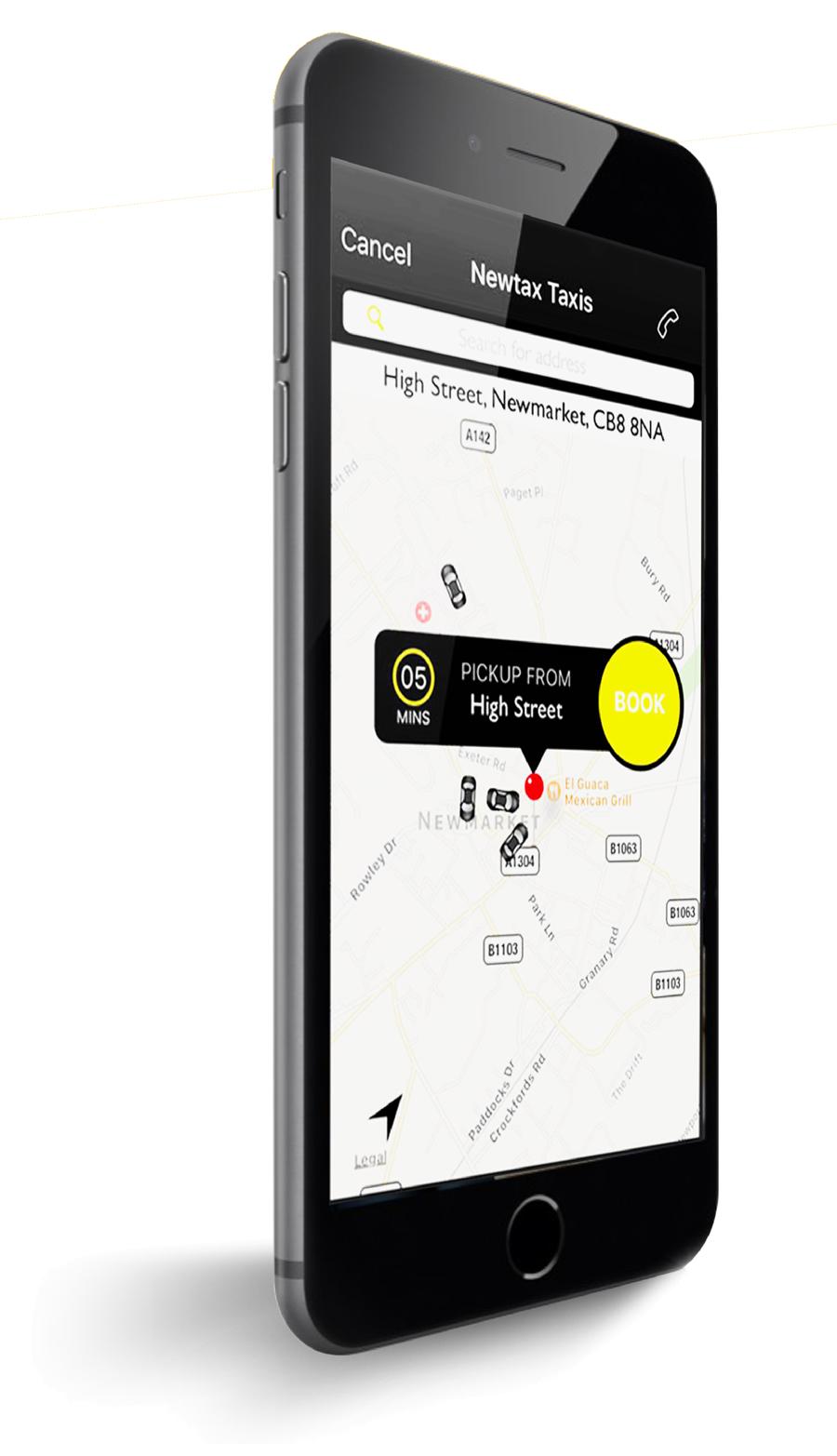 Newtax taxi mobile app